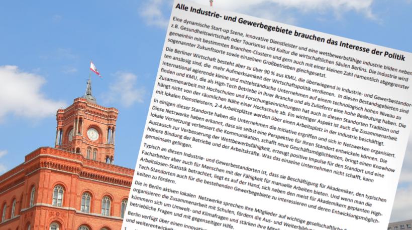 Offener Brief der Unternehmensnetzwerke Berlin