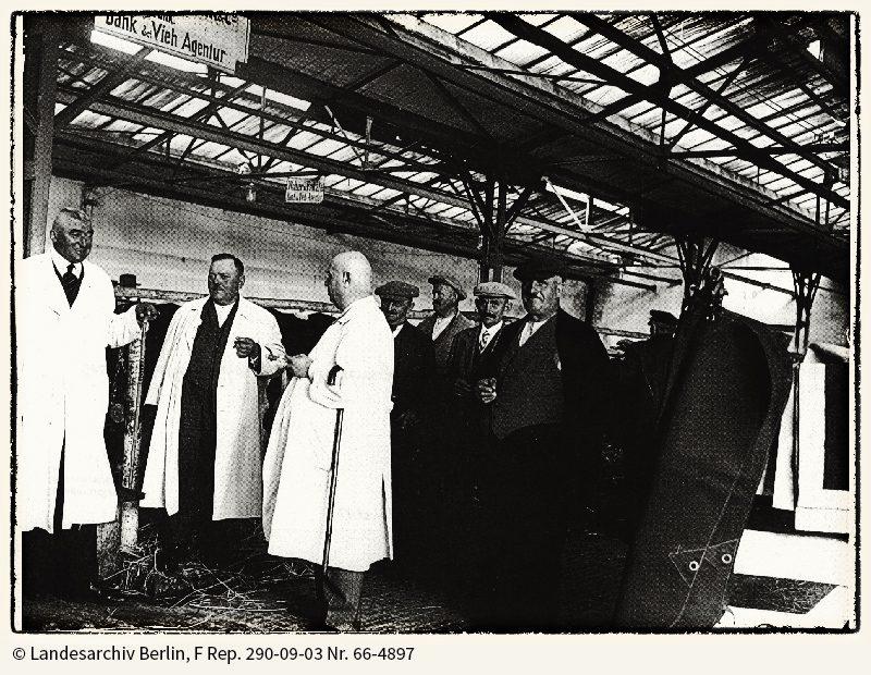 Geschäftsbetrieb während der Markttage, 1934